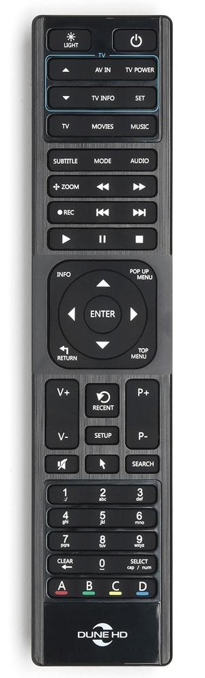 Dune HD 4K Deluxe remote