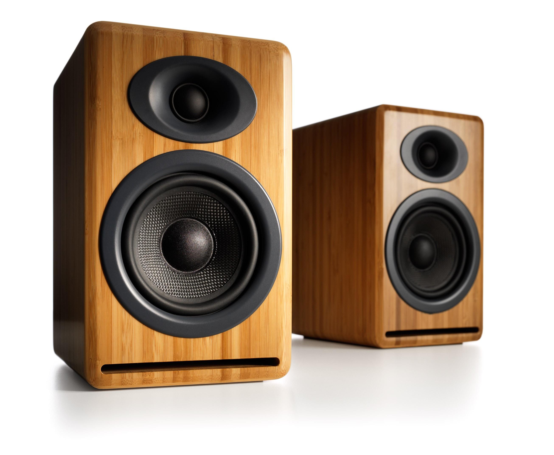 Audioengine P4 Passive Speakers bamboo